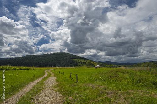 Foto op Plexiglas Donkergrijs Summer day landscape