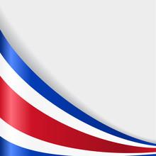 Costa Rican Flag Background. Vector Illustration.