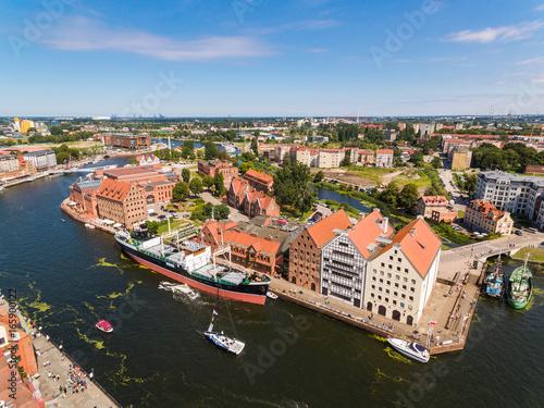 Plakat Kanały Gdańska, widok z góry