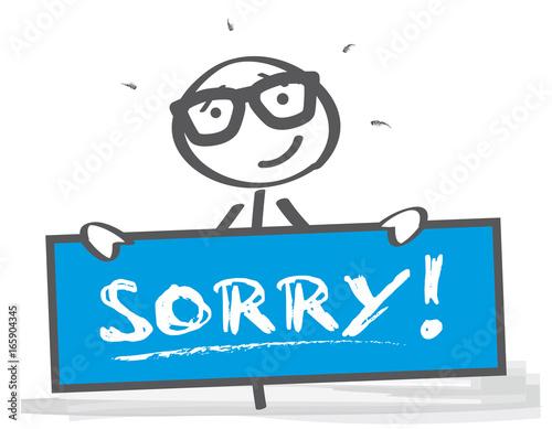 Entschuldigen - Fehler eingestehen - sorry Canvas Print