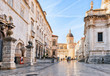 canvas print picture - People at Dubrovnik Cathedral in Old city Dubrovnik