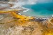 Mikroorganismen färben das Wasser im Yellowstone Nationalpark, Wyoming