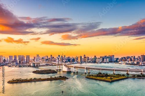Foto op Canvas Tokyo Tokyo, Japan skyline on the bay.