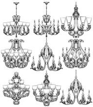 Rich Baroque Classic Chandelie...
