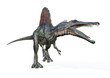 canvas print picture - Spinosaurus von links, 3D-Rendering