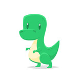 Fototapeta Dinusie - Cute cartoon dinosaur vector