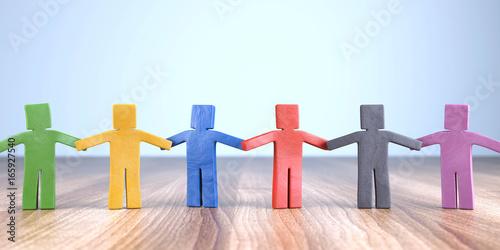 Knetfiguren Zusammenhalt