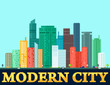 modern colorful city background
