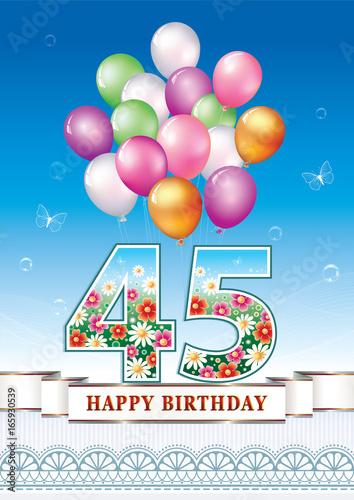 Photo  Happy birthday 45 years