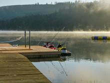 Foggy Lakeside Morning