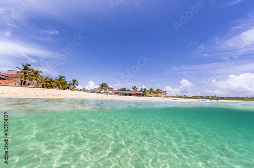 Deurstickers Tropical strand Under water from Meads Bay in Anguilla Beach, Caribbean