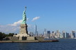 Manhattan Skyline and The Statue of Liberty
