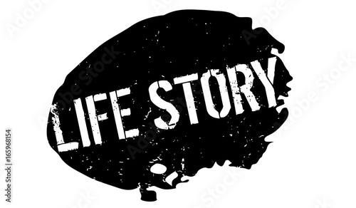 Life Story rubber stamp Canvas Print