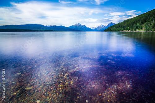 Obraz na plátně  lake mcdonald in glacier national park montanaa