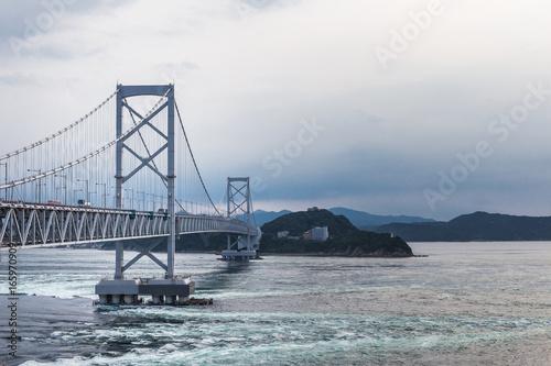 鳴門大橋 淡路島 徳島 Fotobehang