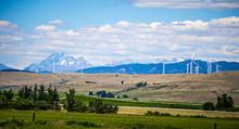 Wind Turbine Farm With Wenatch...