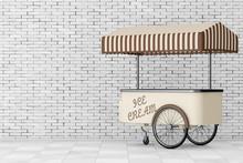 Ice Cream Trolley Cart. 3d Ren...