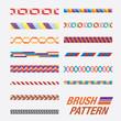 Set of line patterns. vector illustration