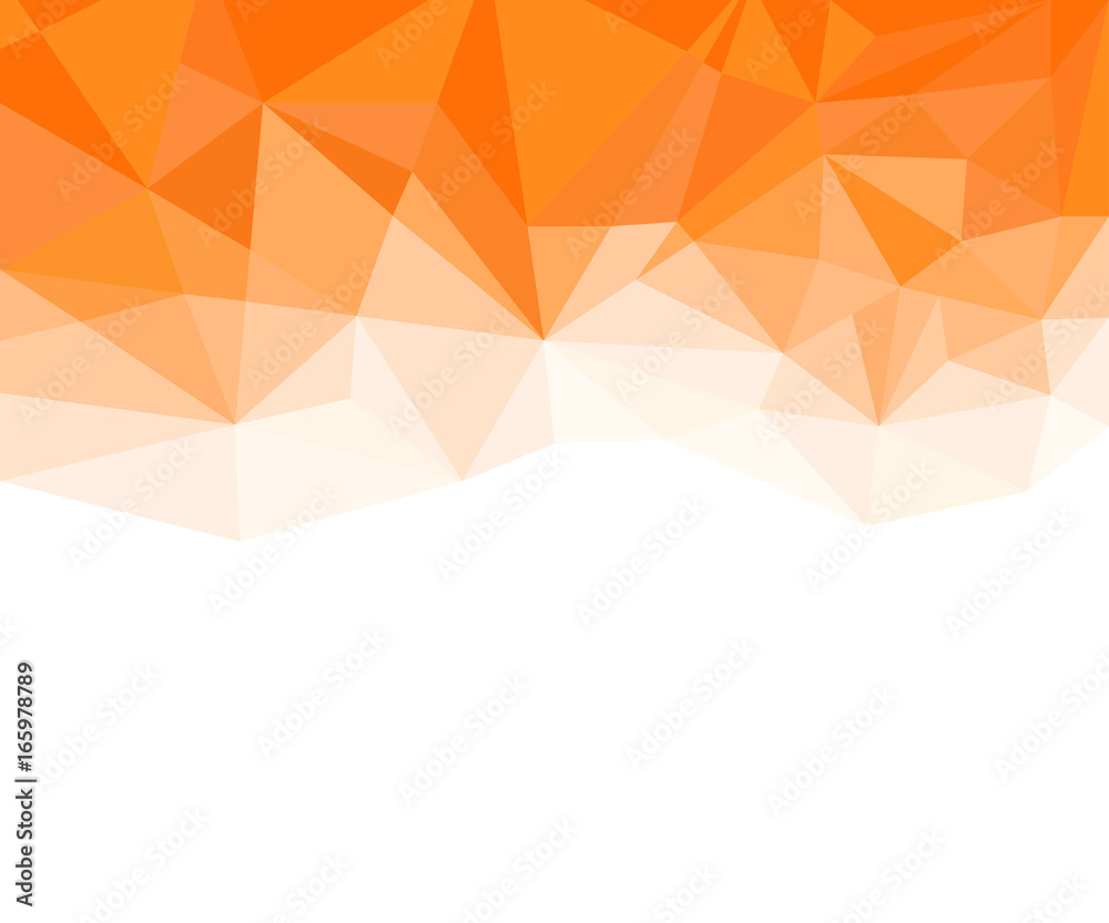 Fototapeta Geometric Orange and White Abstract Vector Background for Use in Design.