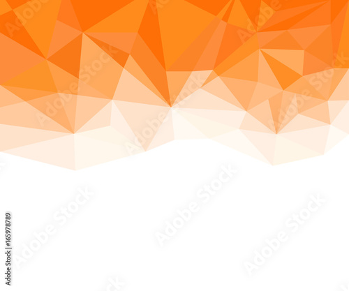 Obraz Geometric Orange and White Abstract Vector Background for Use in Design. - fototapety do salonu