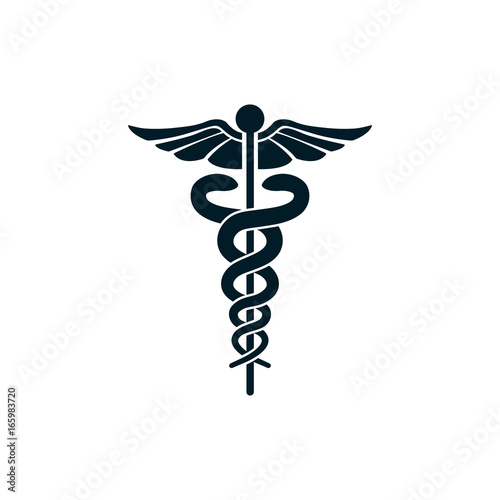 Obraz medical snake symbol - fototapety do salonu