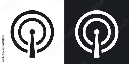 Fotografía  Vector broadcasting icon