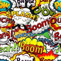 Tapeta Comics speech bubbles seamless pattern. Vector illustration