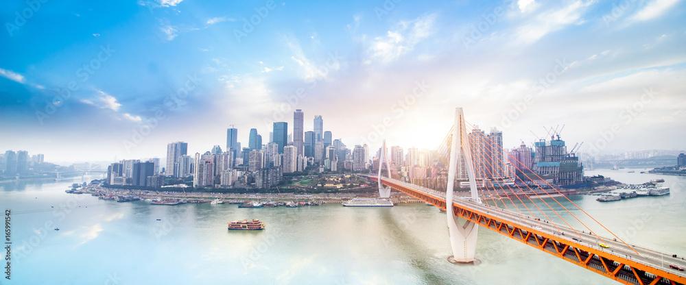 Fototapeta Modern metropolis skyline, Chongqing, China,