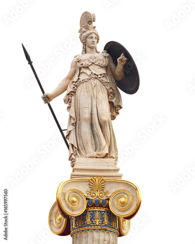 Fotomural Athena statue, the ancient goddess of philosophy and wisdom