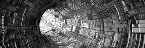 Obrazy wieloczęściowe tunel ze światłem na końcu