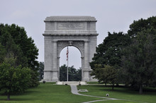 Valley Forge National Historic Park Memorial Arch Monument In Pennsylvania
