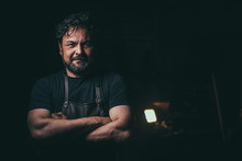 Cool Blacksmith Portrait With ...