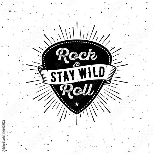 Rock n Roll white Canvas-taulu