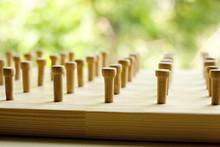 Wooden Toy Geoboard