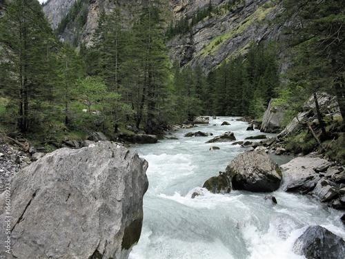 Foto op Aluminium Rivier Kander River and gorge near Kandersteg, Switzerland