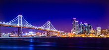 Oakland Bay Bridge Views Near San Francisco California In The Evening