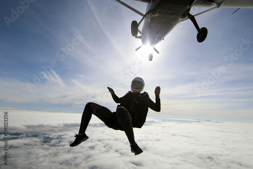 Fotografie, Obraz  Skydiving in Norway