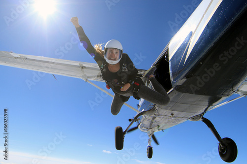 Fotografie, Obraz  Skydiving in Norway
