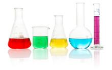 Laboratory Glassware Filled Wi...