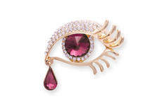 Gold Brooch Eye With Diamonds ...