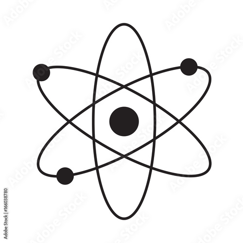 Photo Atom flat isolated icon vector illustration design