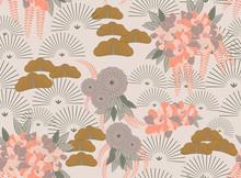 Aster Pink Flower Japanese Garden