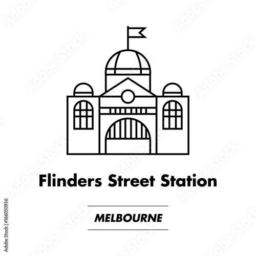 Icon of Flinders Street Station, Melbourne, Australia © James Ser
