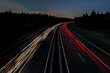 Light trails of cars (40 images superimposed)