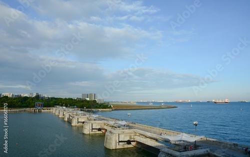 Photo  Marina Barrage in Singapore