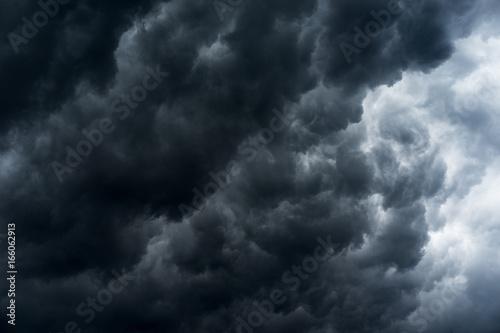 Foto op Canvas Onweer rain cloud, storm cloud before a thunder storm Background