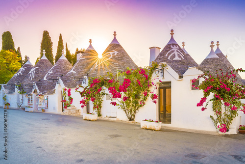 Trulli houses in Alberobello city, Apulia, Italy. Canvas Print