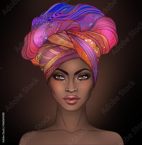 Cuadros en Lienzo African American pretty girl