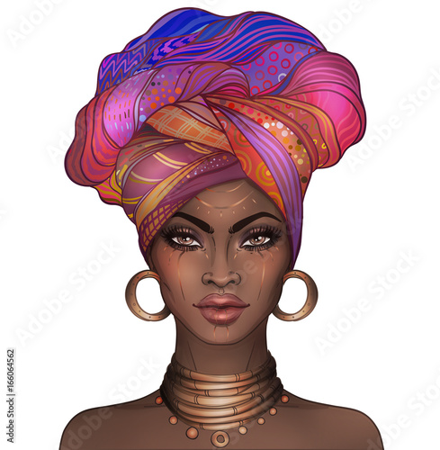 African American pretty girl Canvas-taulu