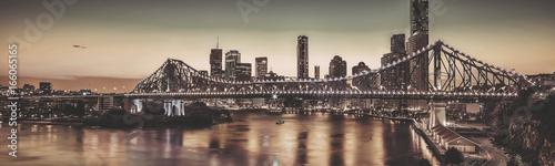 In de dag Brug Iconic Story Bridge in Brisbane, Queensland, Australia.